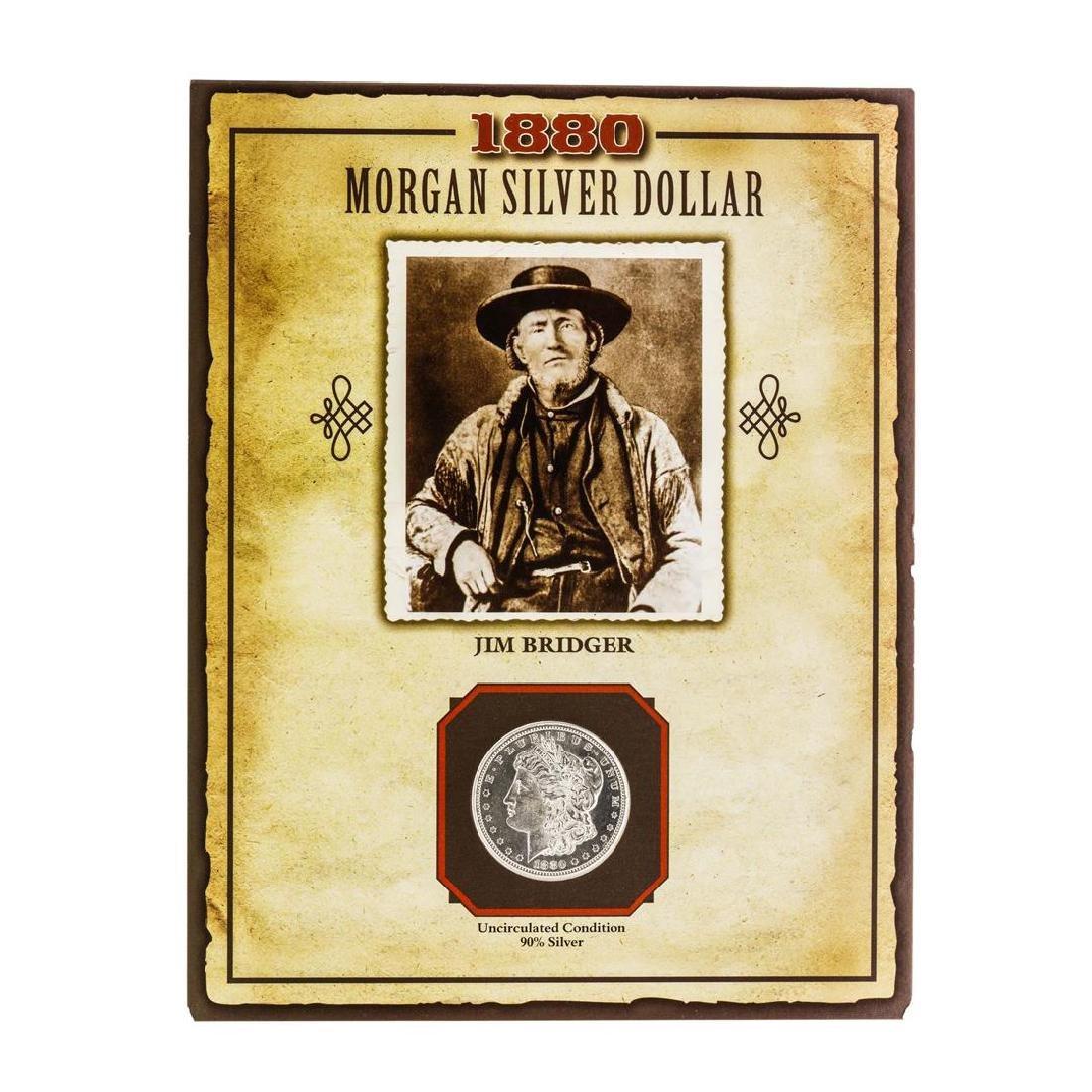 1880-S $1 Morgan Silver Dollar Coin with Jim Bridger