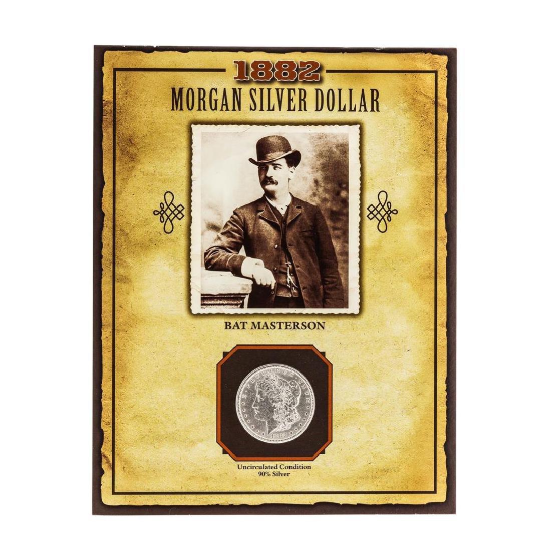 1882 $1 Morgan Silver Dollar Coin with Bat Masterson