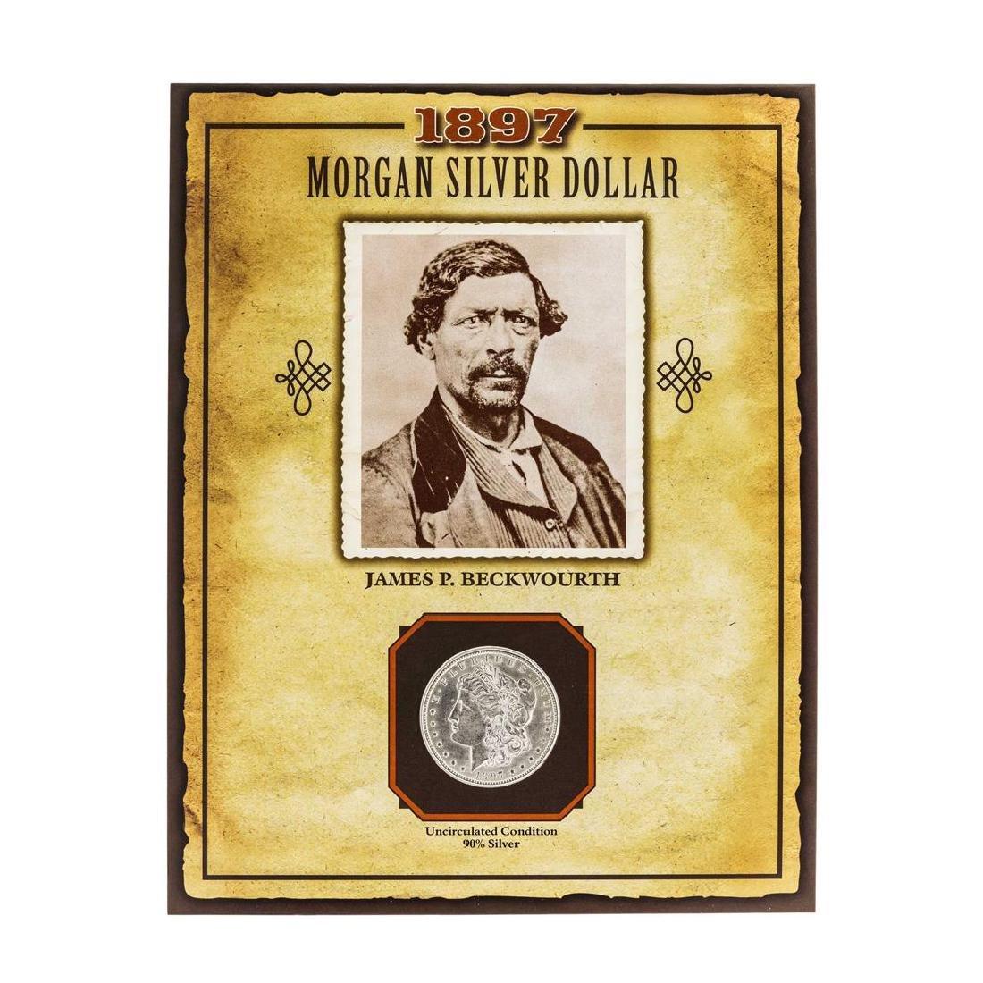 1897 $1 Morgan Silver Dollar Coin with James P.