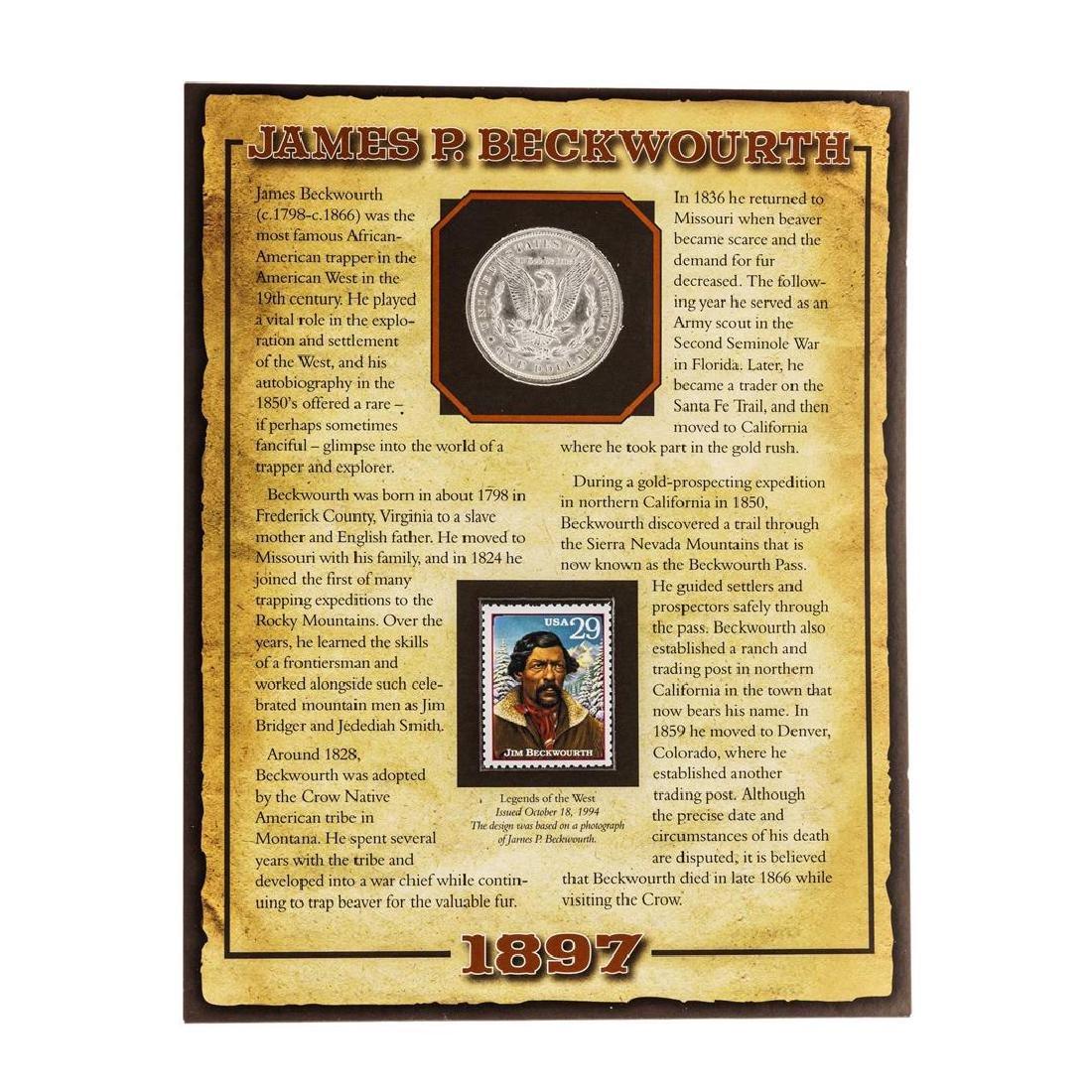 1897 $1 Morgan Silver Dollar Coin with James P. - 2
