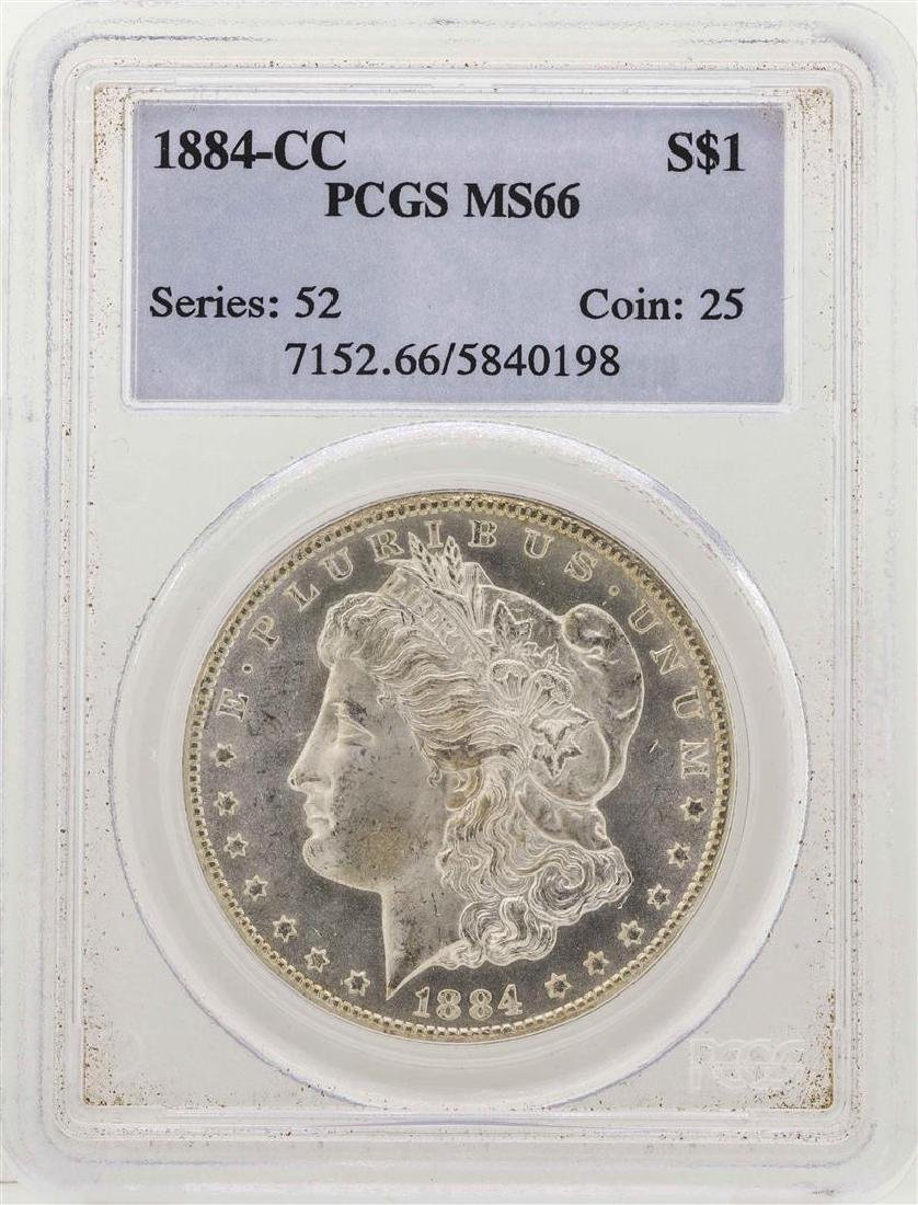 1884-CC $1 Morgan Silver Dollar Coin PCGS MS66