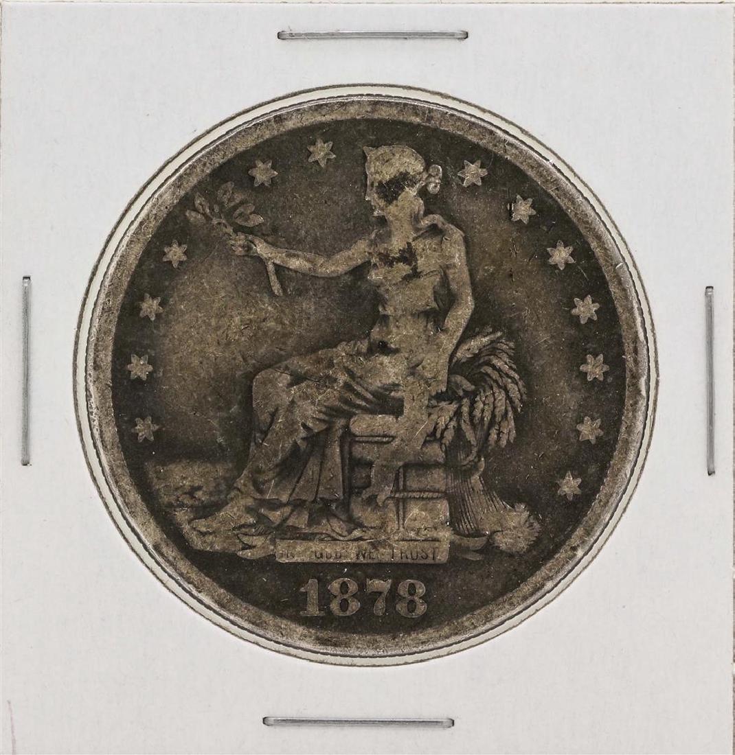 1878 $1 Trade Silver Dollar Coin