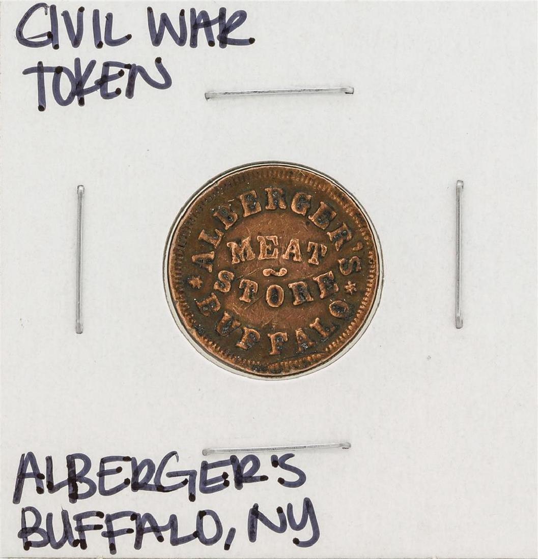 1863 Civil War Token Albergers Buffalo New York