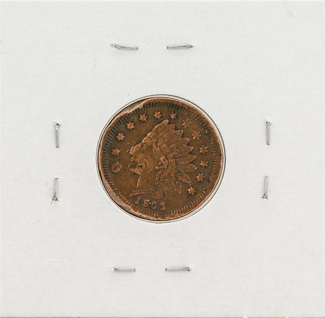1863 Civil War Token Albergers Buffalo New York - 2