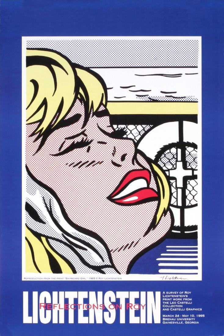 2 Assorted Roy Lichtenstein Girls Posters