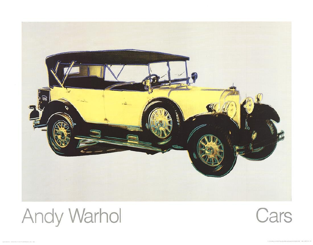 8 Assorted Andy Warhol Car Posters