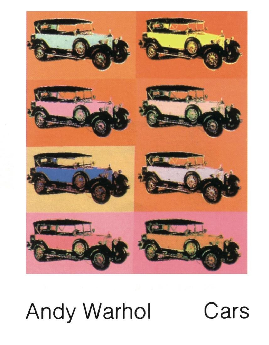 8 Assorted Andy Warhol Car Posters - 2