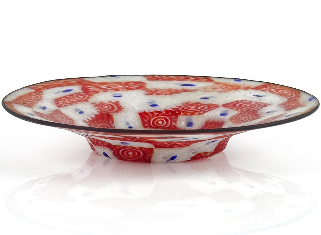 Fratelli Toso Murano Millefiori Italian Art Glass Dish - 2