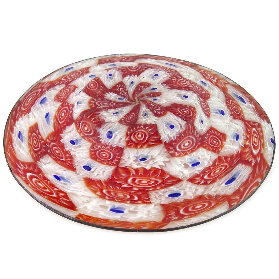 Fratelli Toso Murano Millefiori Italian Art Glass Dish - 3