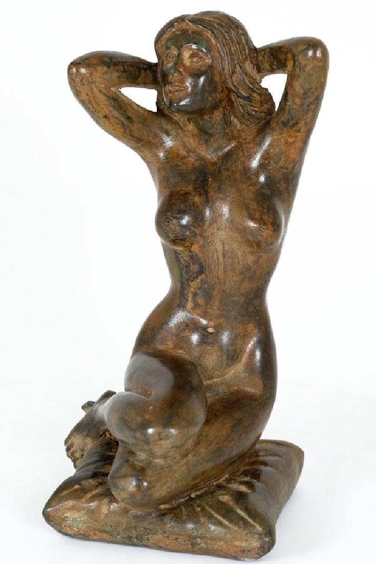 Pierre Chenet, Bronze Sculpture of a Female Nude