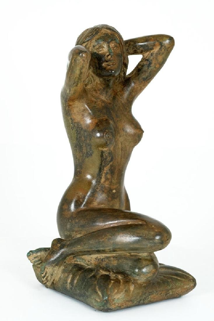 Pierre Chenet, Bronze Sculpture of a Female Nude - 2