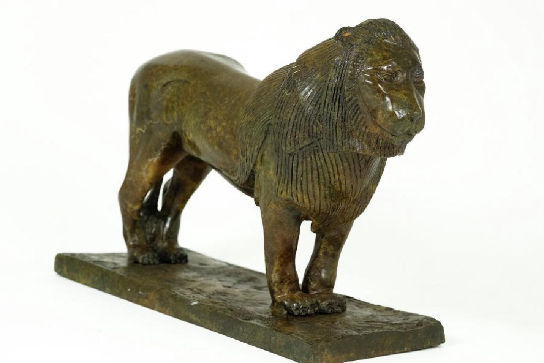 Bronze Sculpture, 'Lion de Nubie' - 4