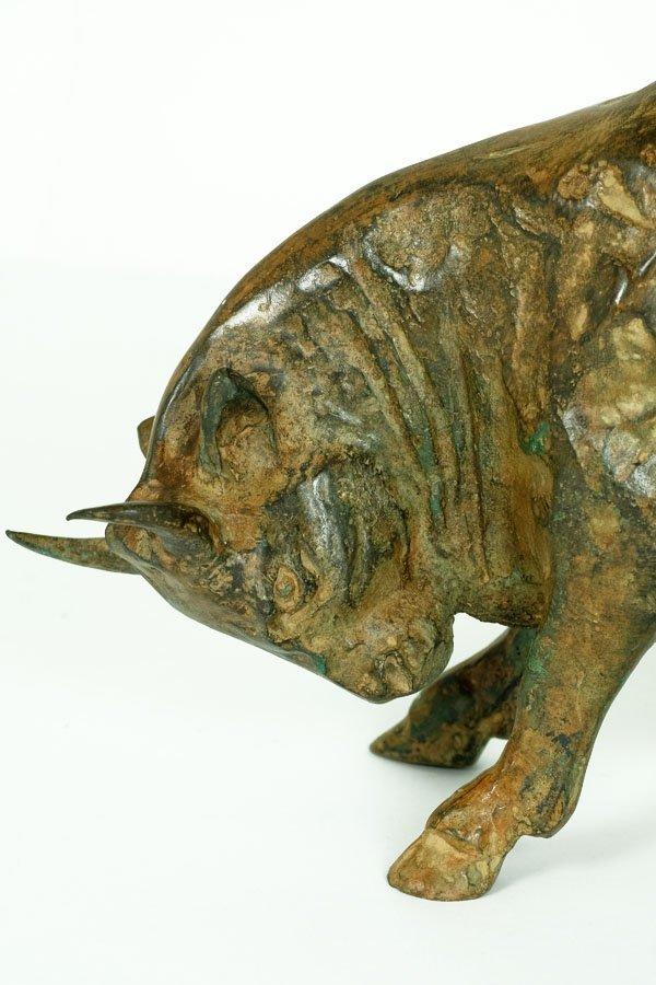 Pierre Chenet, Bronze Sculpture of Charging Bull - 10