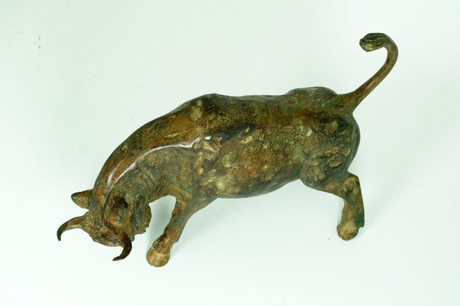 Pierre Chenet, Bronze Sculpture of Charging Bull - 6