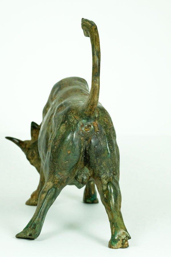 Pierre Chenet, Bronze Sculpture of Charging Bull - 8