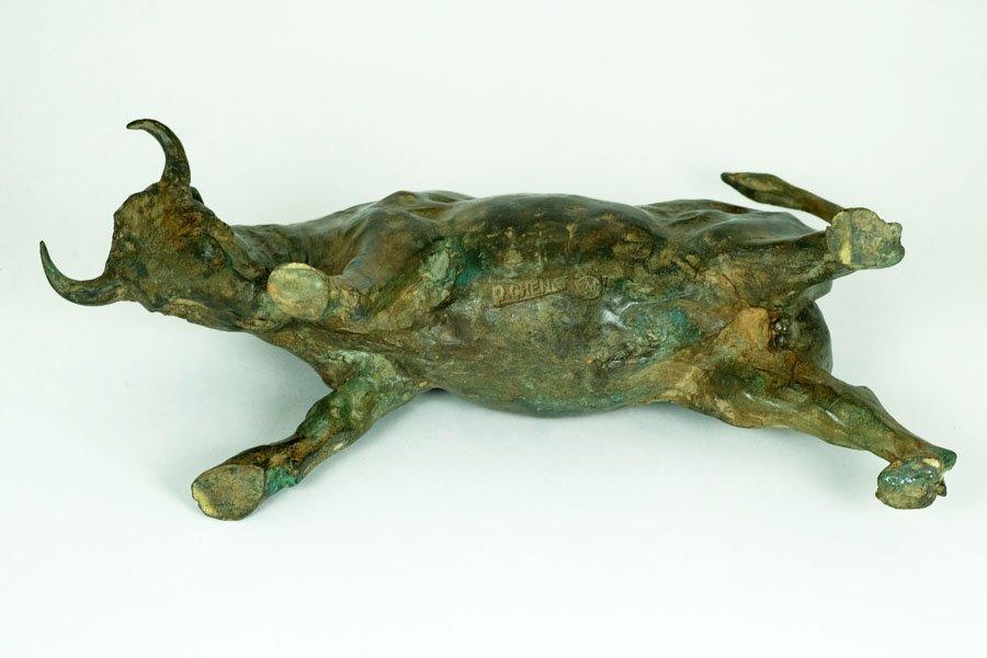 Pierre Chenet, Bronze Sculpture of Charging Bull - 9