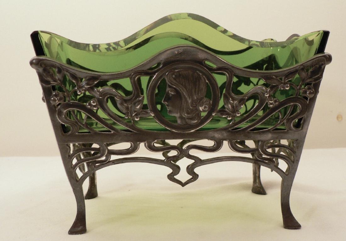 WMF Art Nouveau Fruit bowl w/ Glass Liner - 3