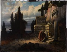 Constantin Holscher Oil on Canvas Painting