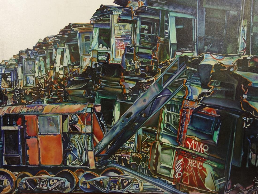 Contemporary American L Rudnick Oil on Canvas Painting