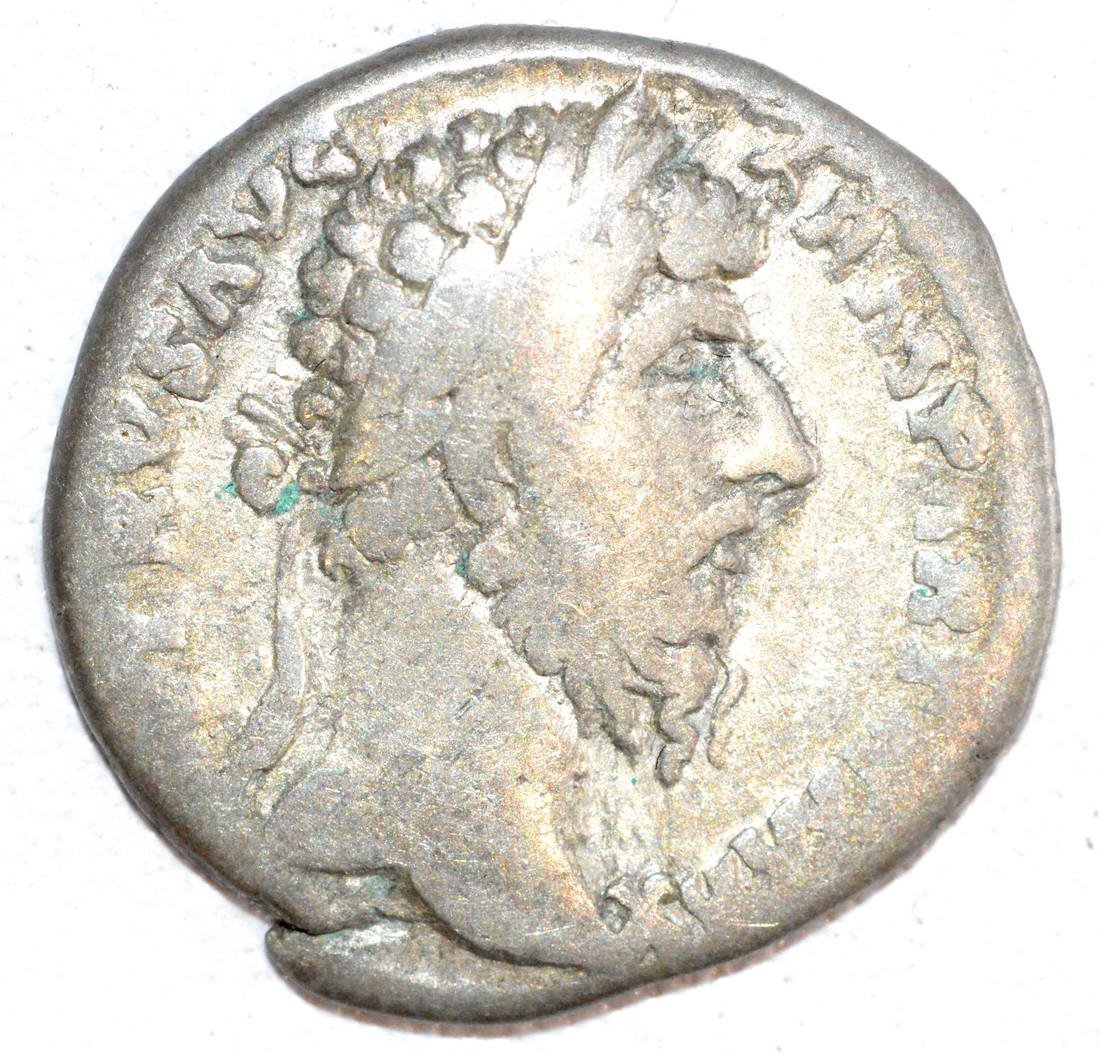 Ancient Roman Silver Denarius of Emperor Lucius Verus