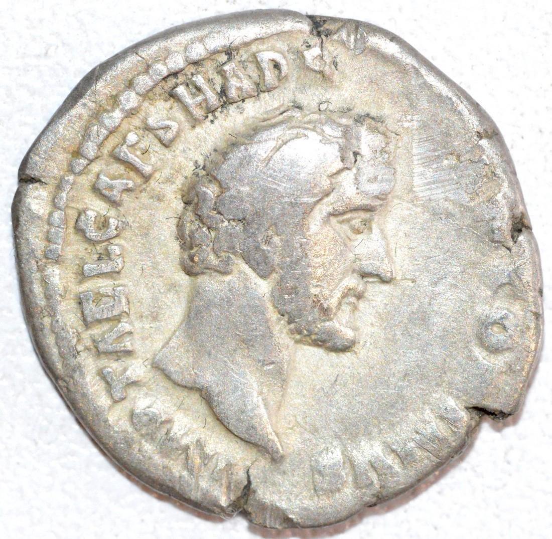 Rare Ancient Roman Silver Denarius of Emperor Antoninus