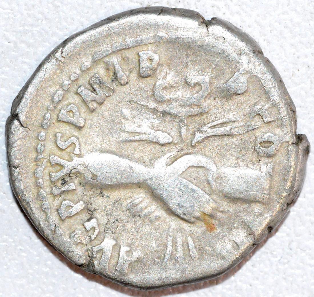 Rare Ancient Roman Silver Denarius of Emperor Antoninus - 2