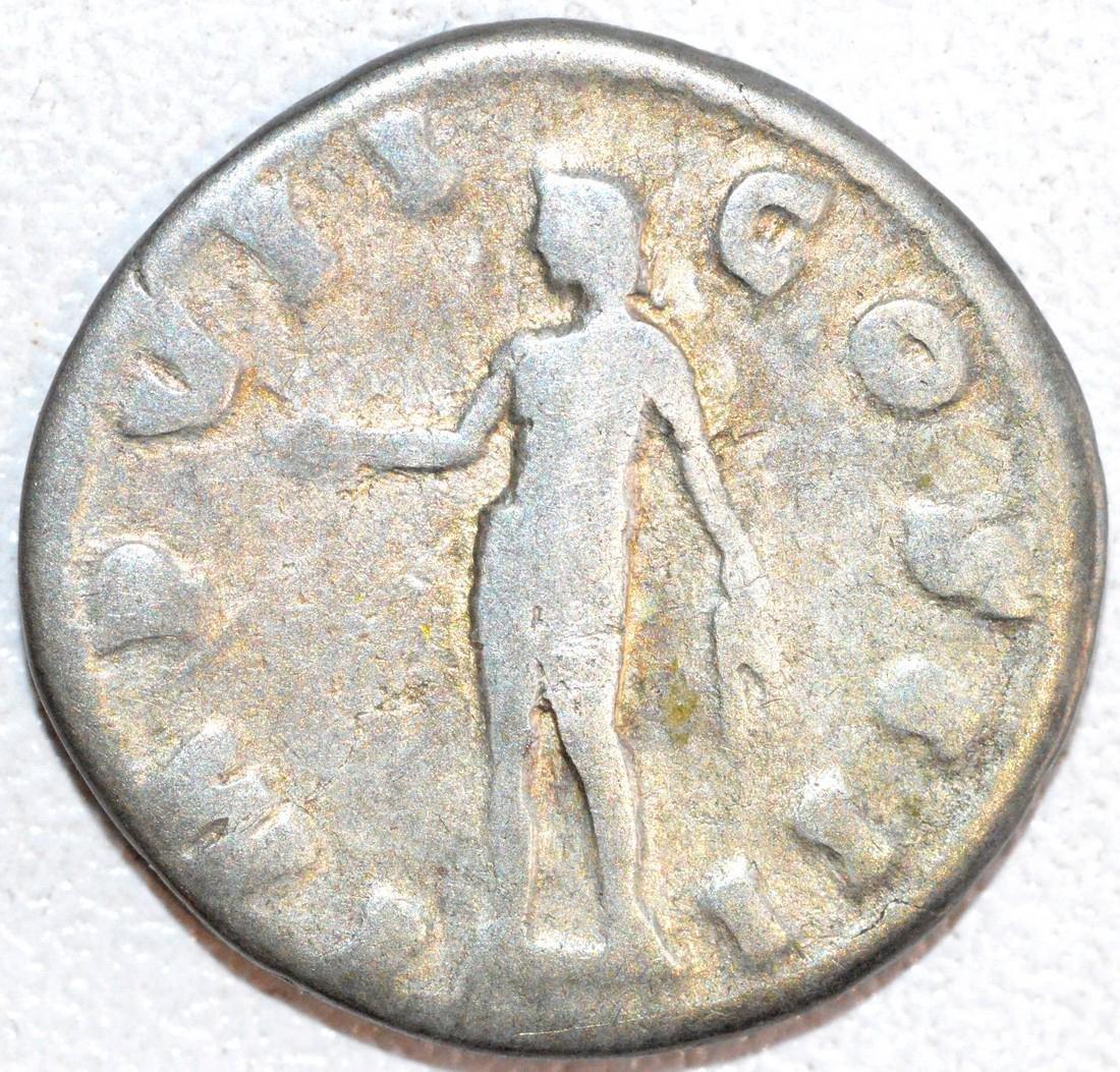 Ancient Roman Silver Denarius of Emperor Marcus - 2