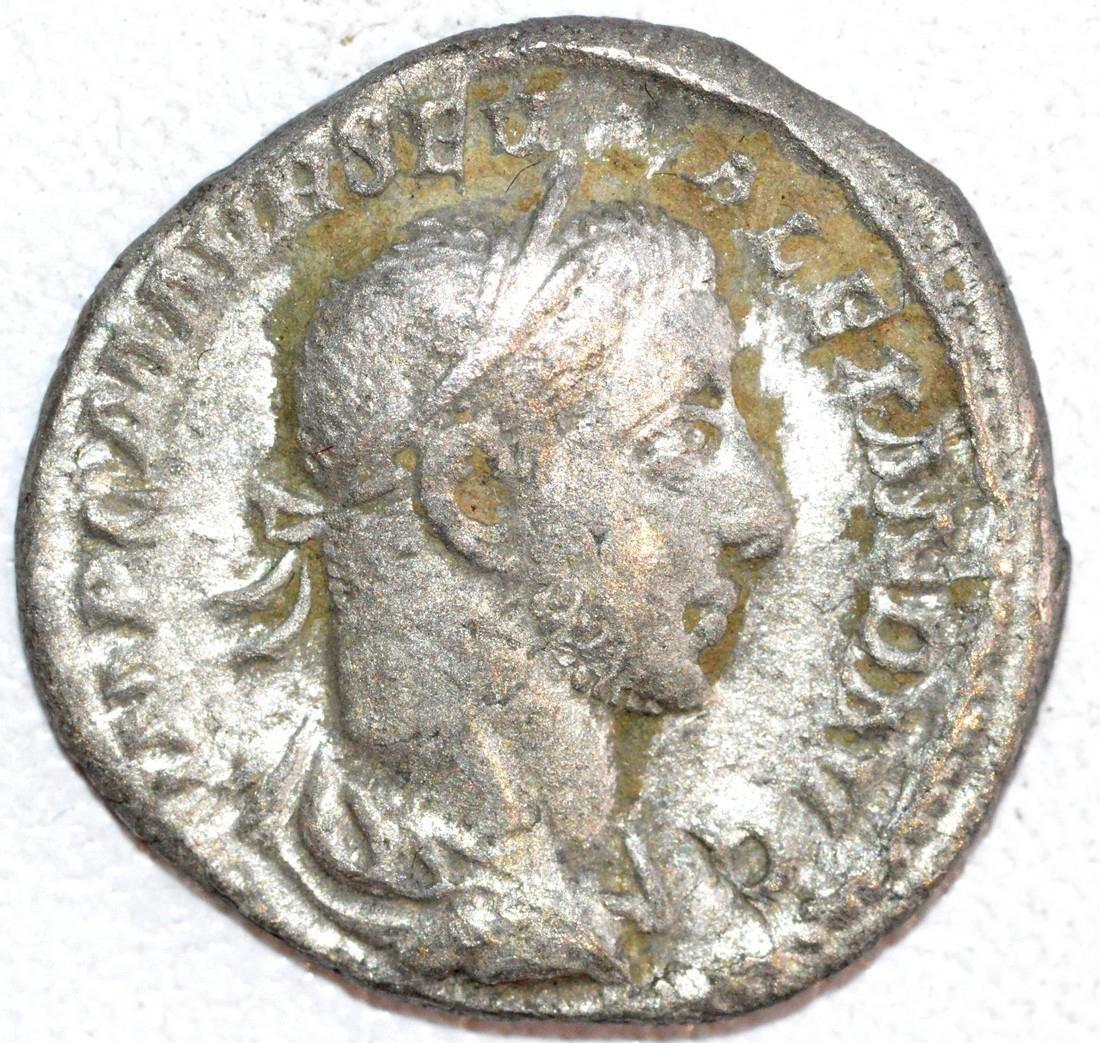 Ancient Roman Silver Denarius of Emperor Alexander
