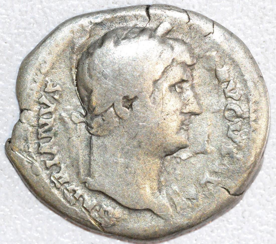 Rare Ancient Roman Silver Denarius of Emperor Hadrian