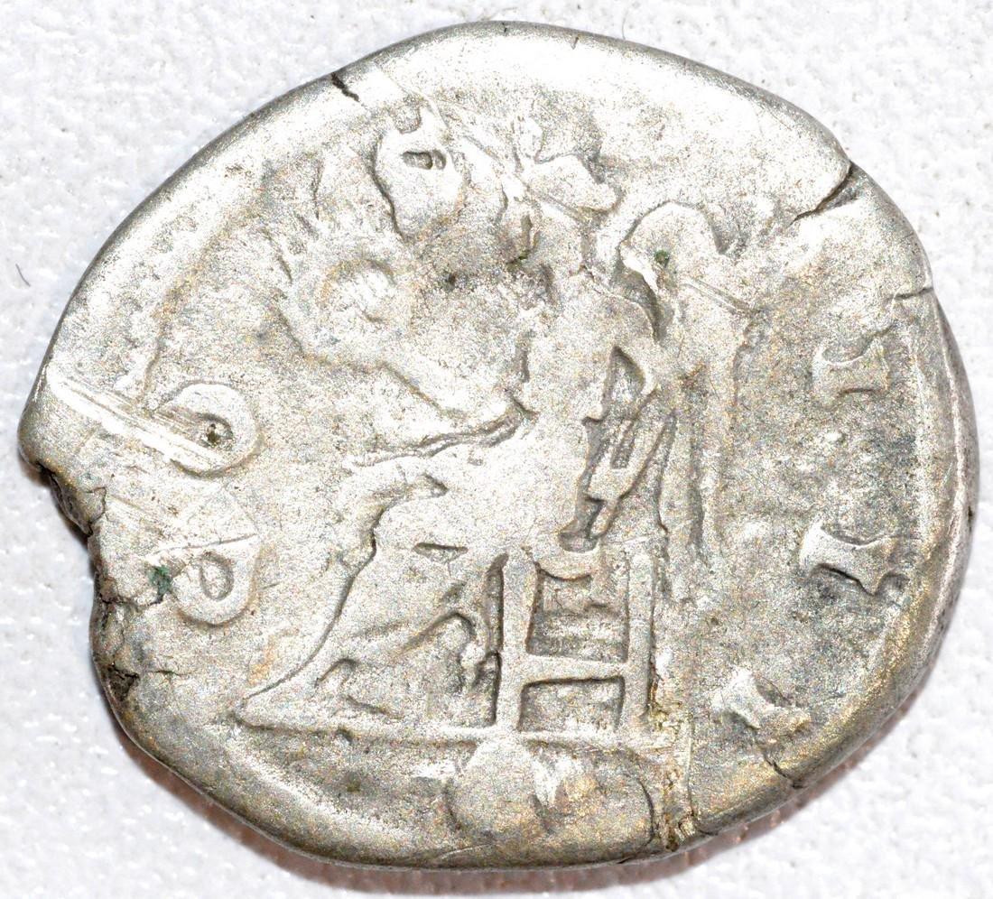 Rare Ancient Roman Silver Denarius of Emperor Hadrian - 2