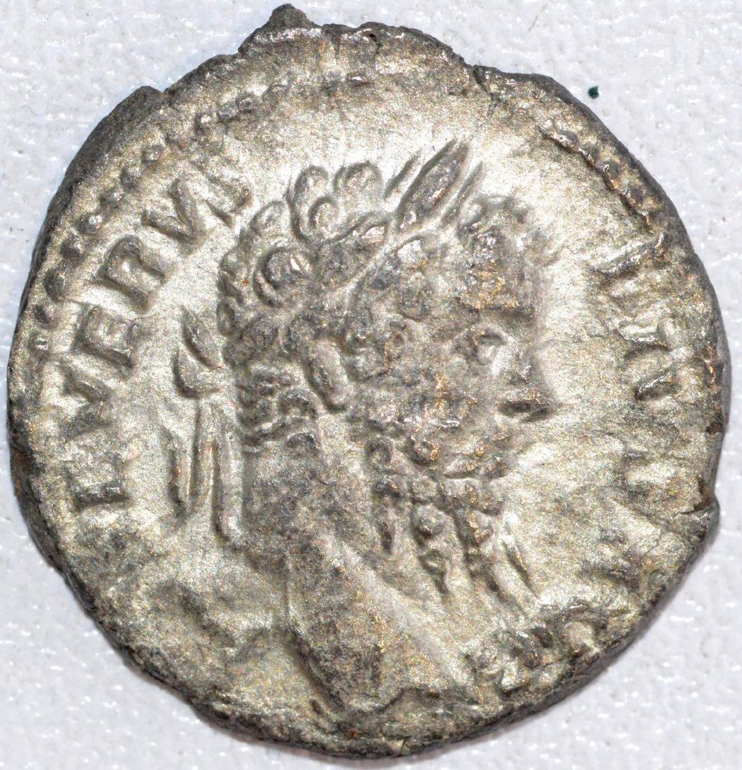 Ancient Roman Silver Denarius of Emperor Septimus