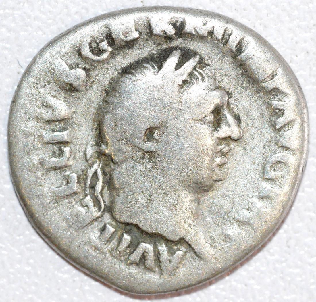 Rare Ancient Roman Silver Denarius of Emperor Vitellius