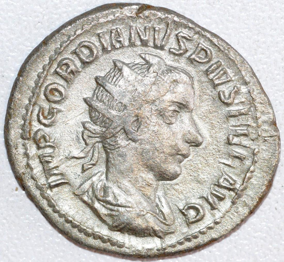 Ancient Roman Silver Antoninianus of Emperor Gordian