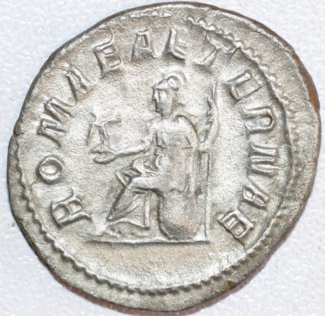 Ancient Roman Silver Antoninianus of Emperor Gordian - 2
