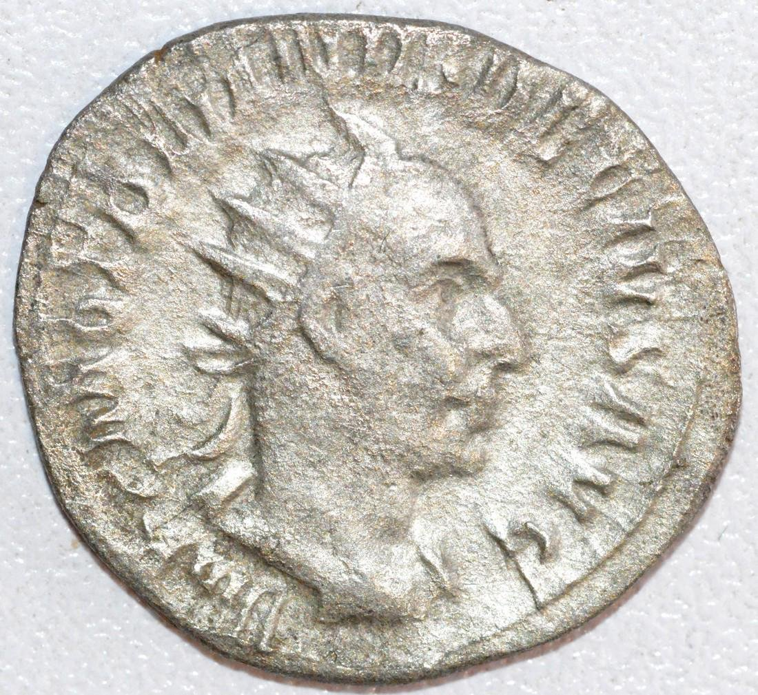 Ancient Roman Silver Antoninianus of Emperor Trajan