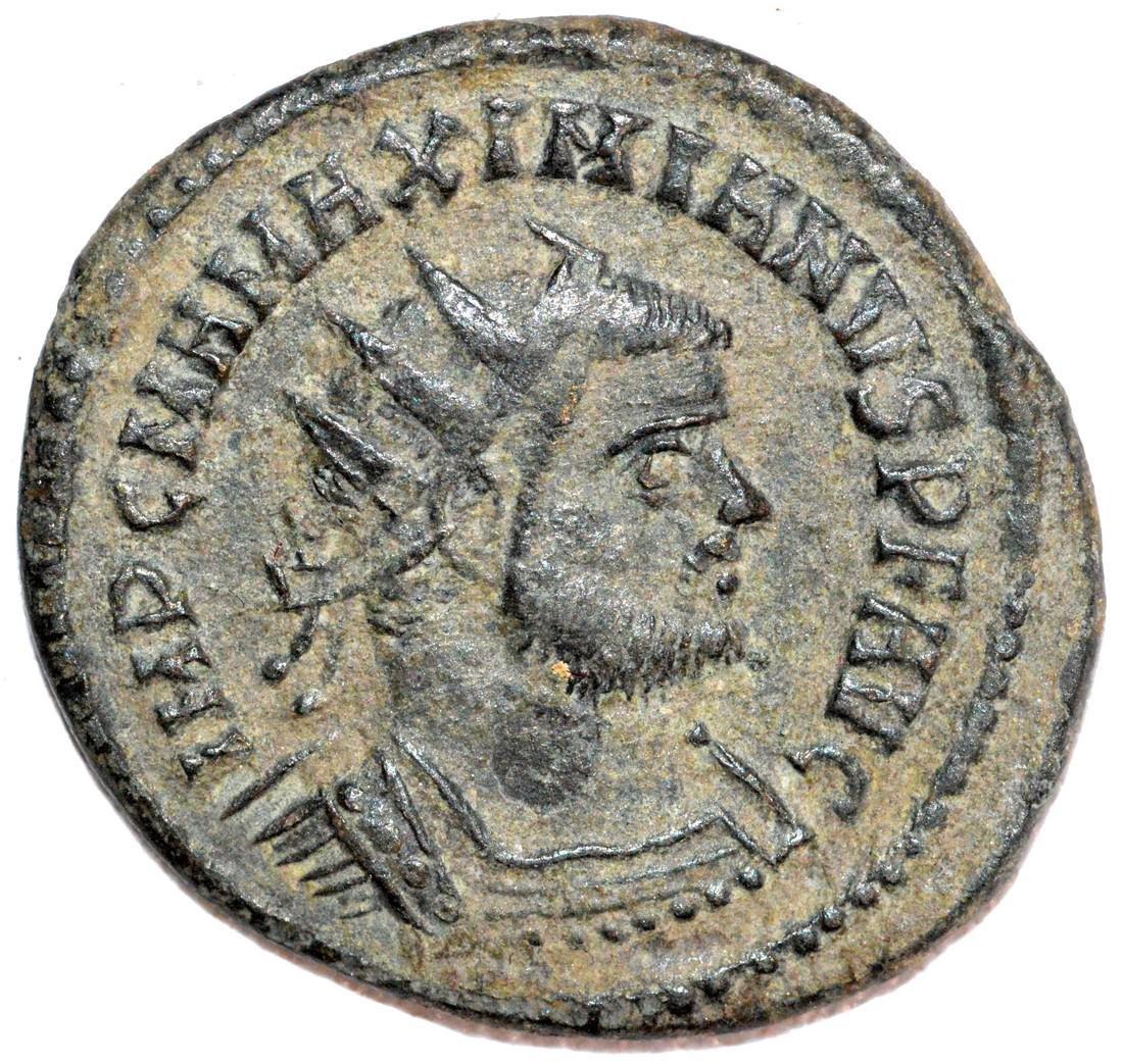 Ancient Roman Copper Antoninianus of Emperor Maximian
