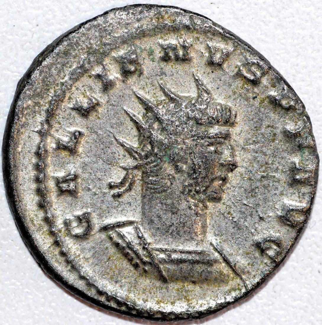 Ancient Roman Silvered Antoninianus of Emperor Galienus