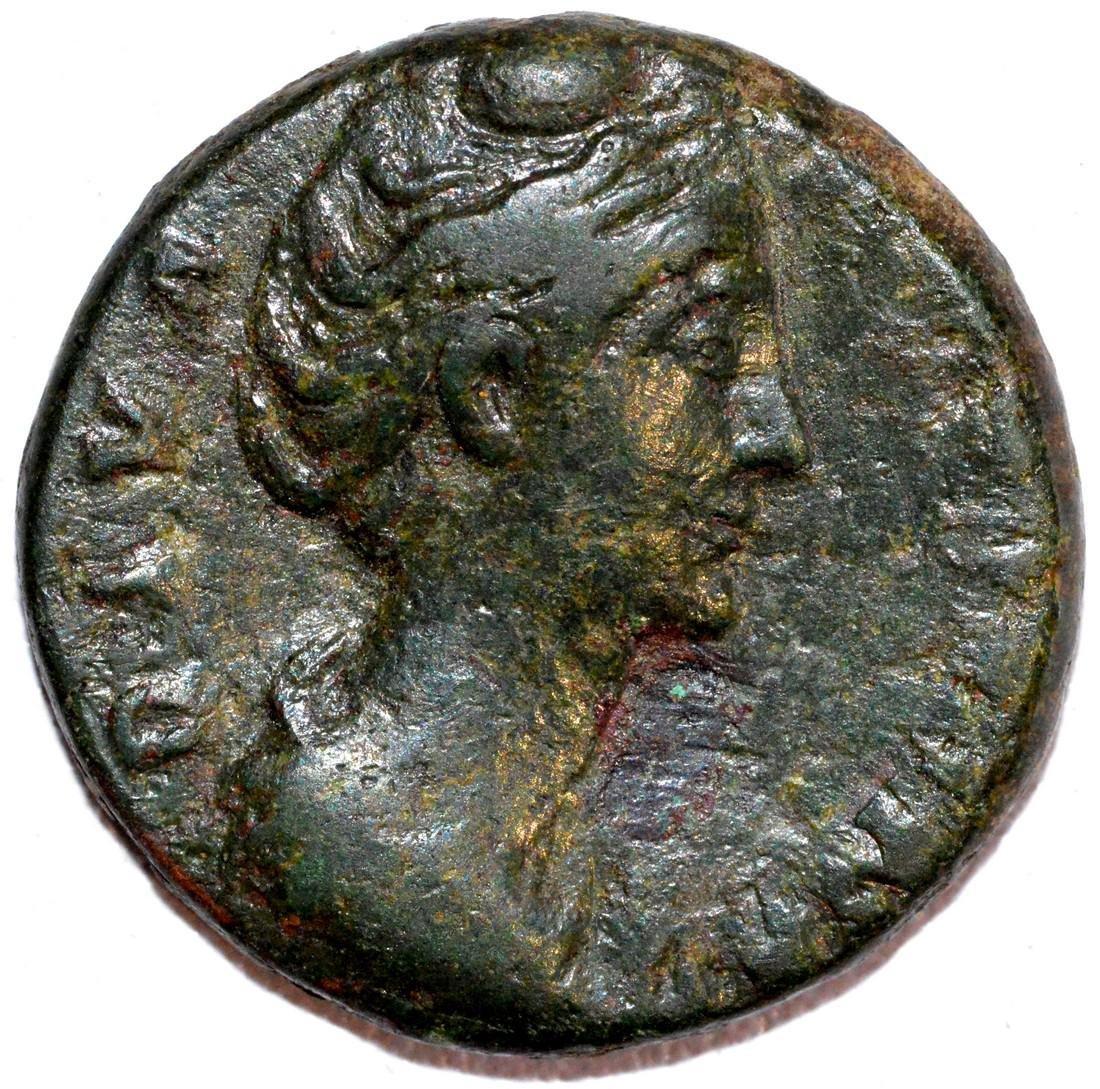 Rare Ancient Roman Copper AS of Empress Faustina