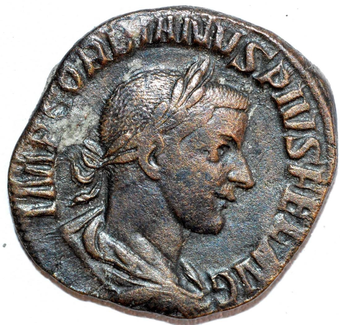 Rare Ancient Roman Sestertius of Emperor Gordian III