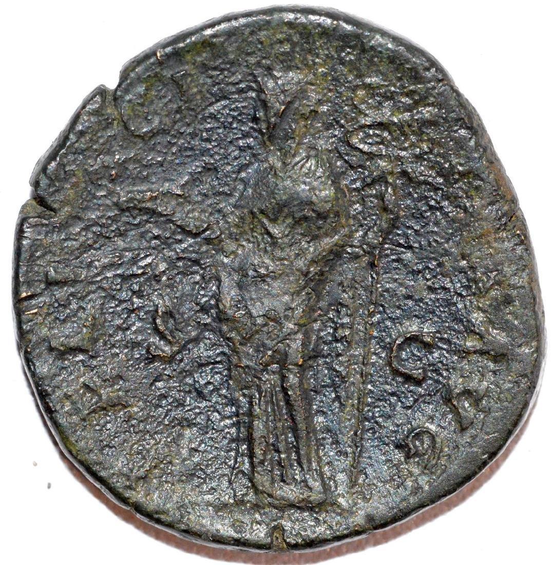 Rare Ancient Roman Sestertius of Emperor Antoninus Pius - 2