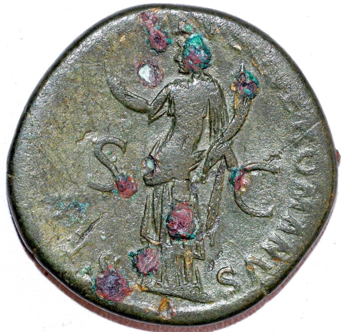 Rare Ancient Roman Sestertius of Emperor Trajan