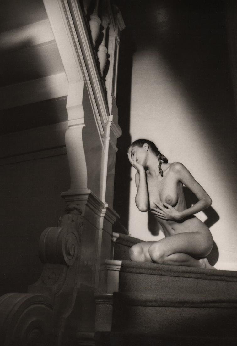JEANLOUP SIEFF - Nude on Stairs