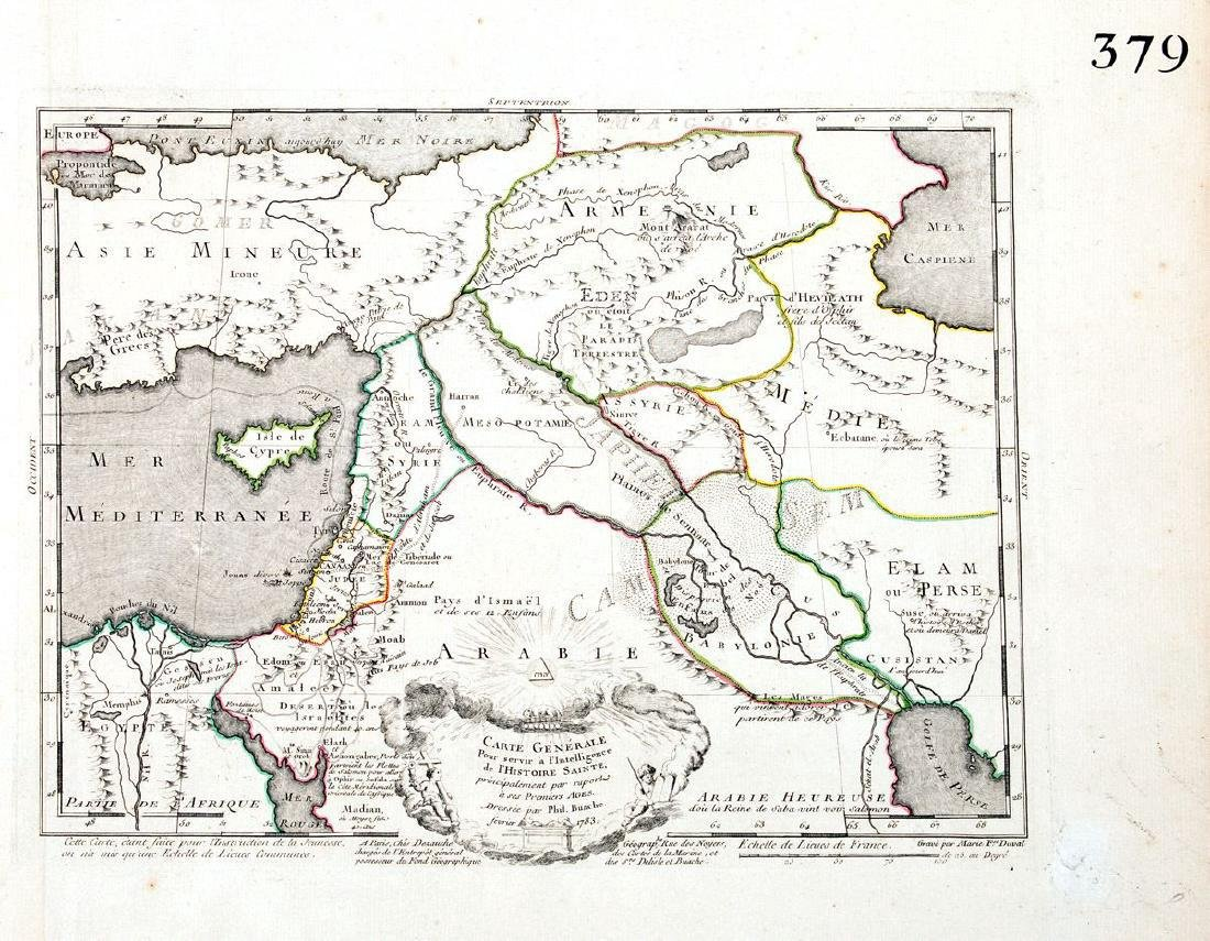 Buache/Dezauche: Antique Map of the Middle East, 1783