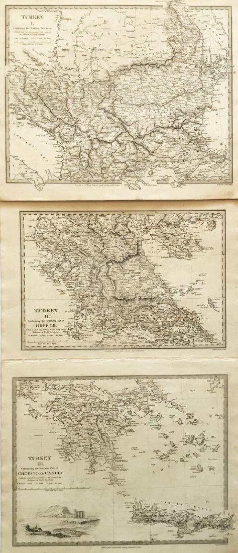 SDUK: Three Antique Maps of Turkey in Europe, 1830