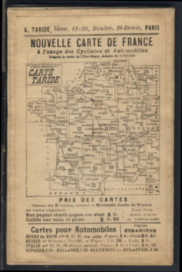 Antique Map of Northeast France on Linen, 1908