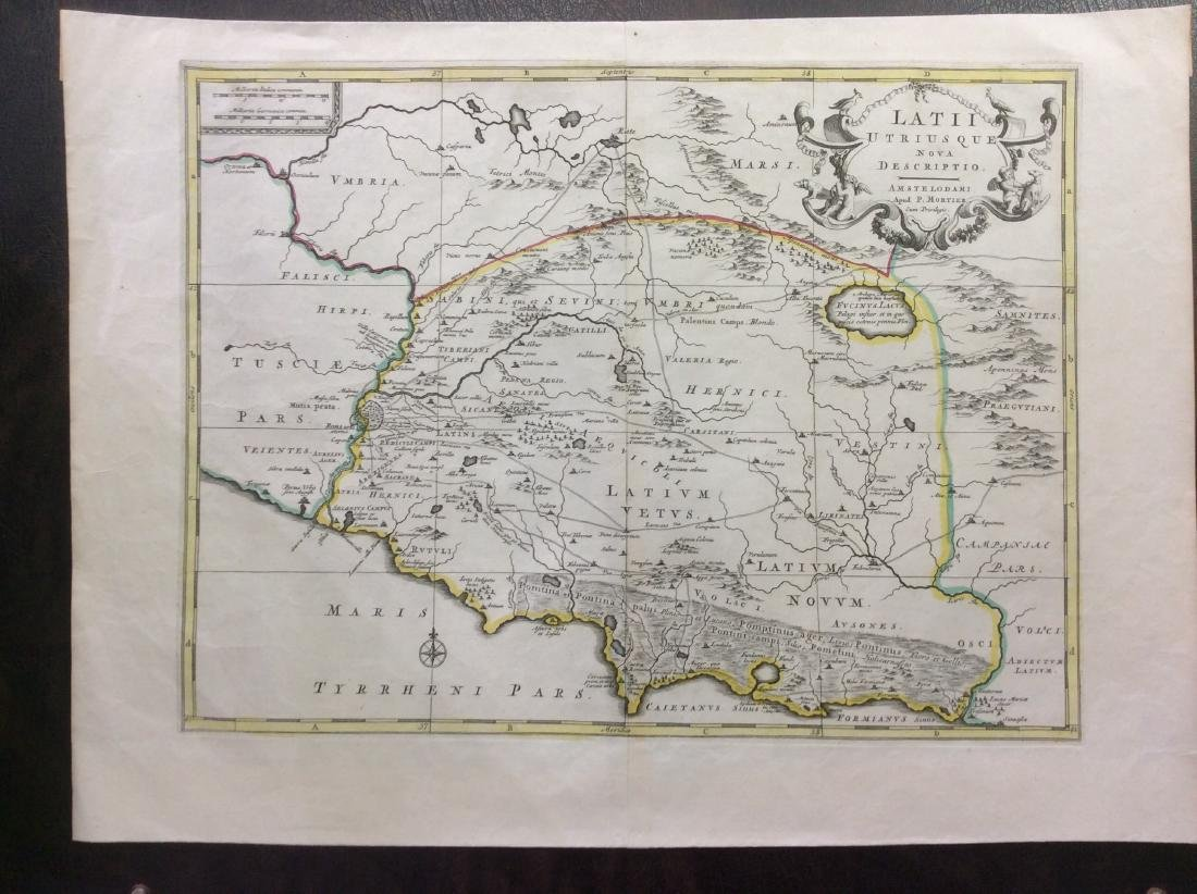 Martier: Antique Map of Ancient Italy, 1705