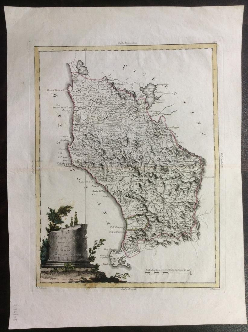 Zatta: Antique Map of Northern Italy, 1790