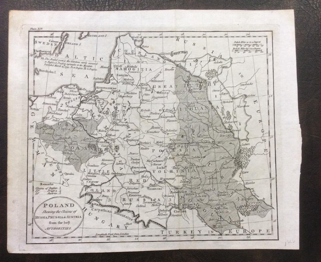 Robinson / Dilly: Antique Map of Poland, 1785