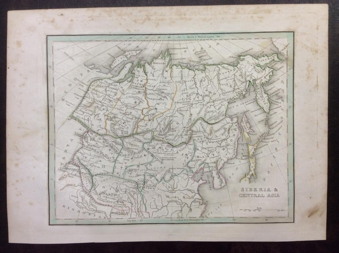 Bradford: Antique Map of Siberia & Central Asia, 1835