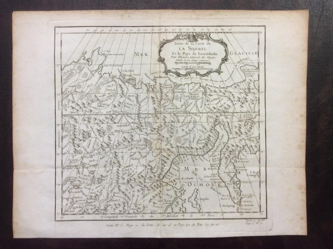 Bellin: Antique Map of Eastern Siberia, 1750
